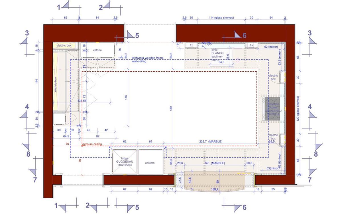Planimetria della cucina