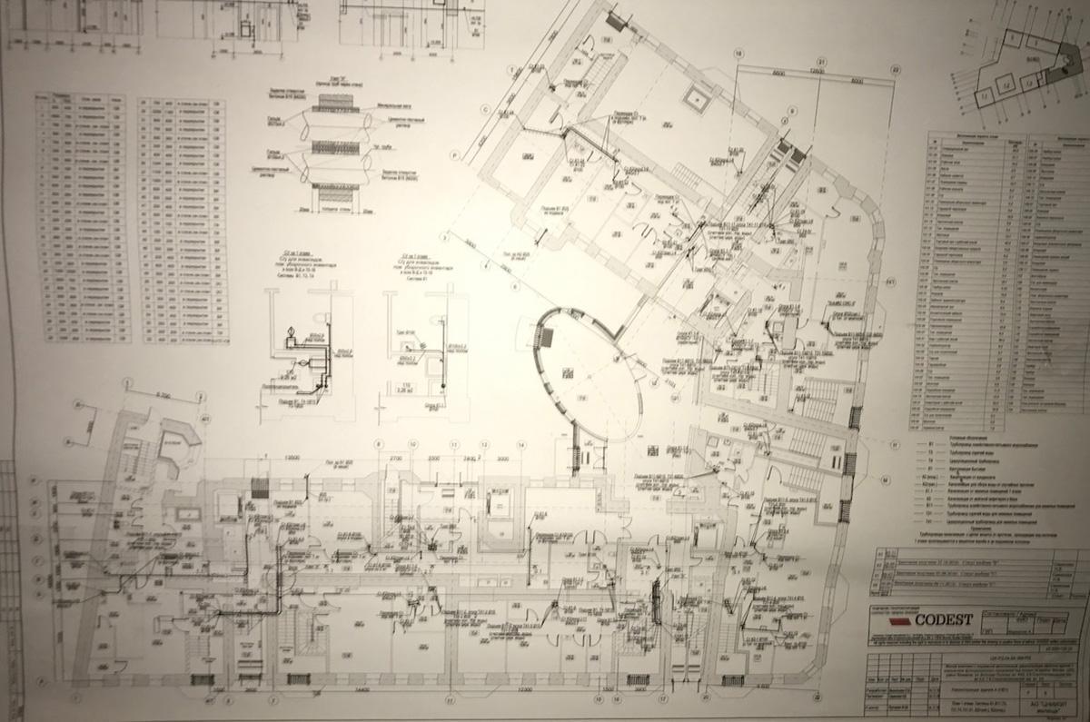 Planimetria di progetto (Codest Mosca)