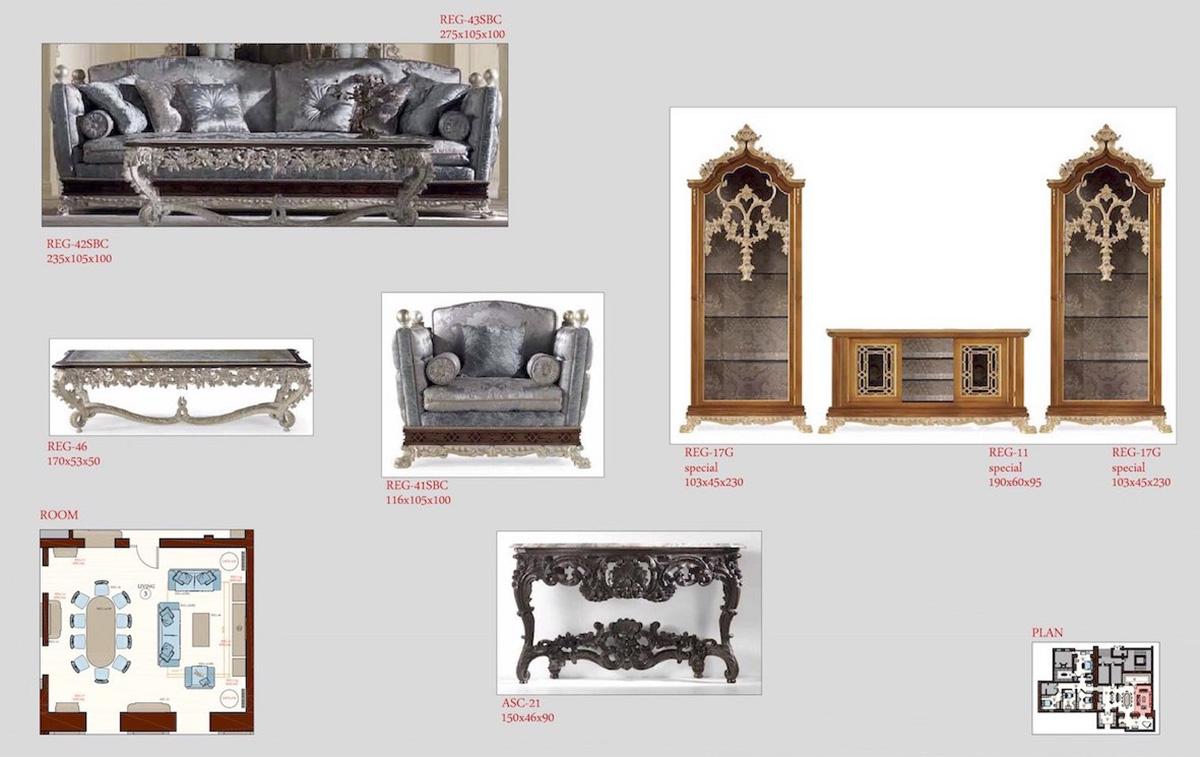 Selezione dei mobili per living