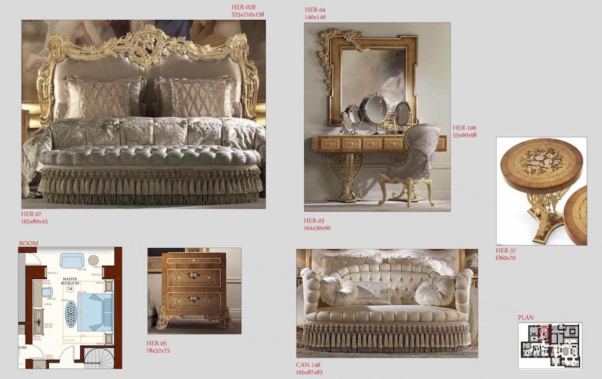 Selezione dei mobili per master bedroom