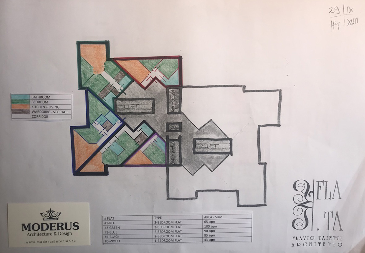 Appartamento_2: variante-1 layout distributivo