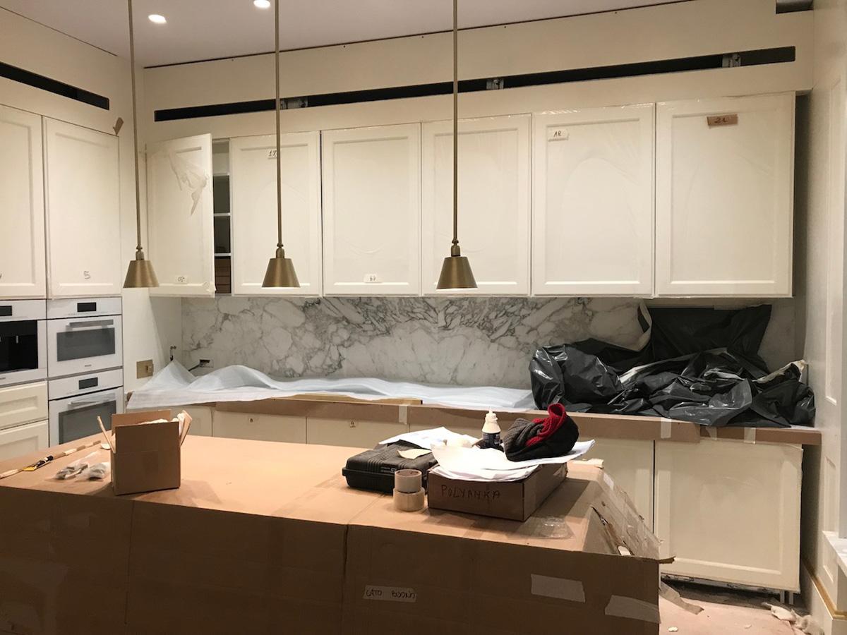 Work in progress dei montaggi - cucina