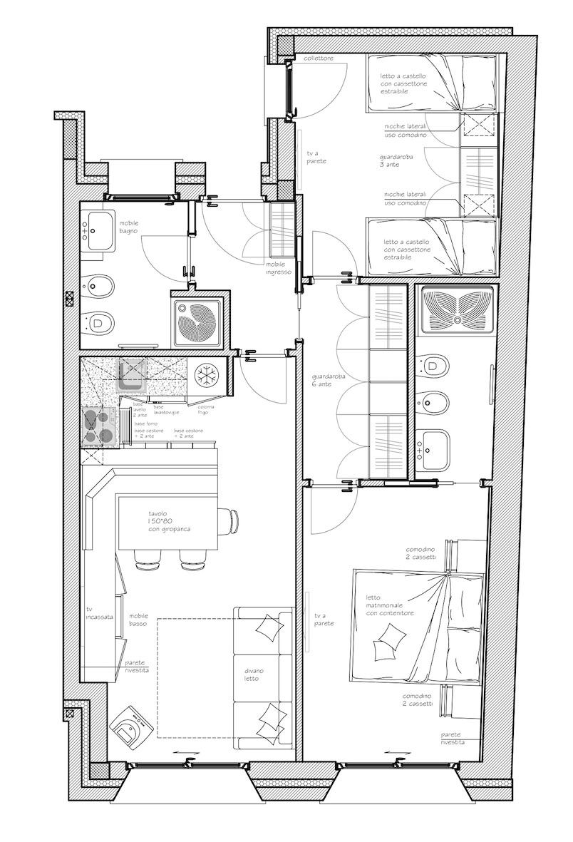 Planimetria di progetto rivista