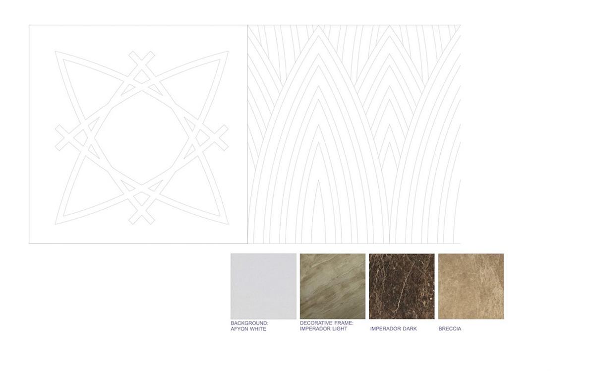 Disegno Esecutivo del pavimento in marmo