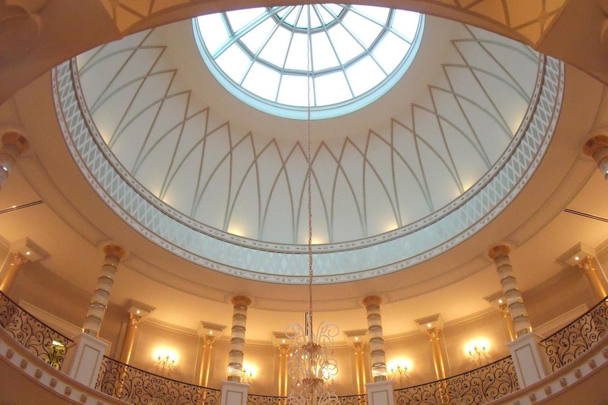La cupola decorata