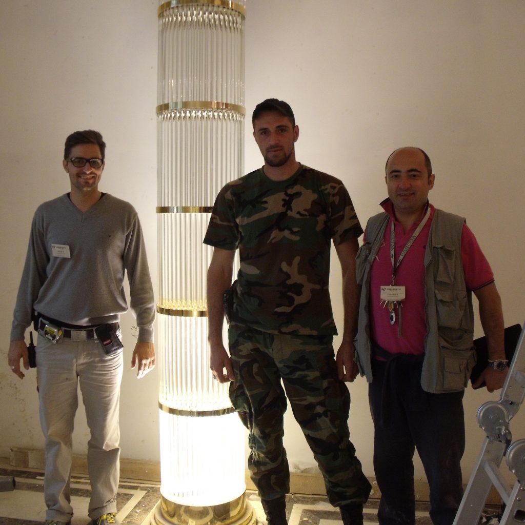 Architetto Flavio Taietti con colleghi