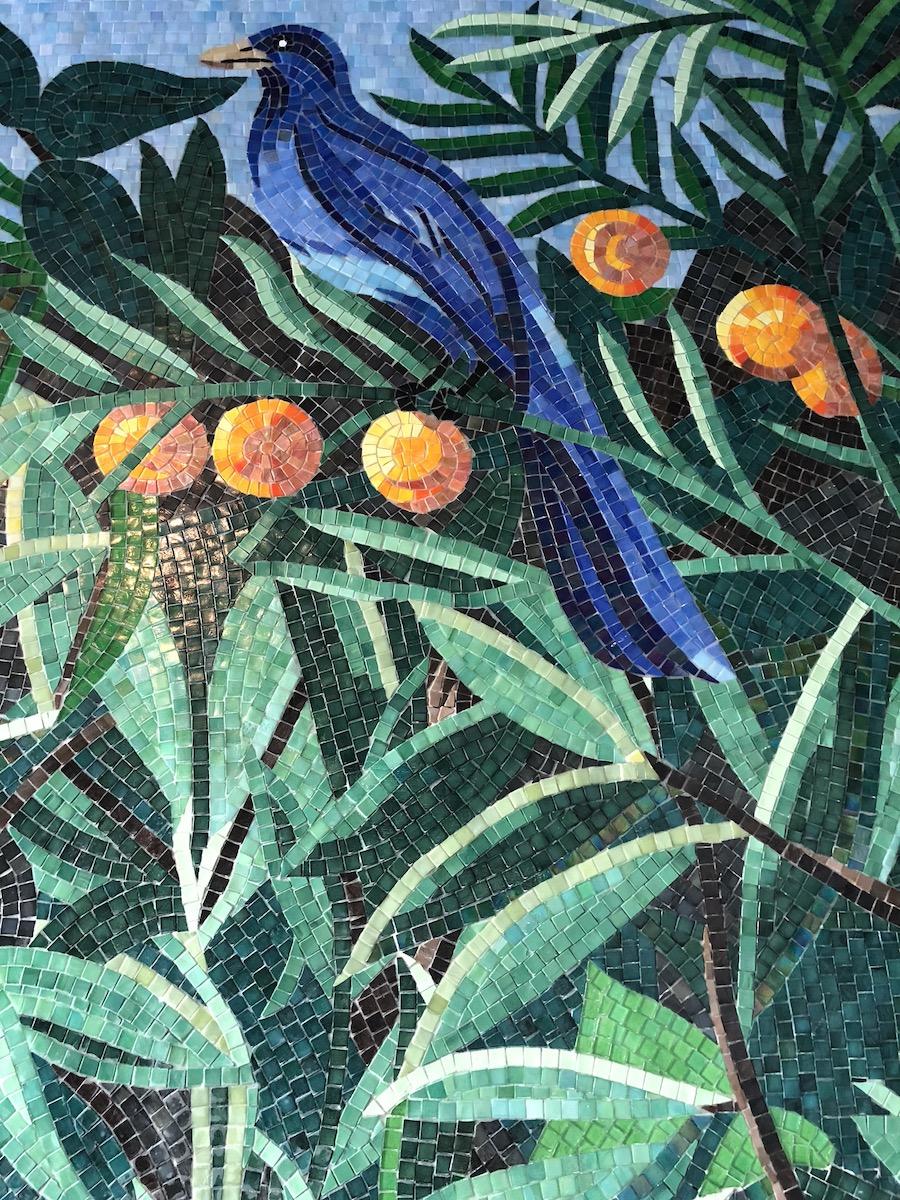 mosaico di volatile by sicis
