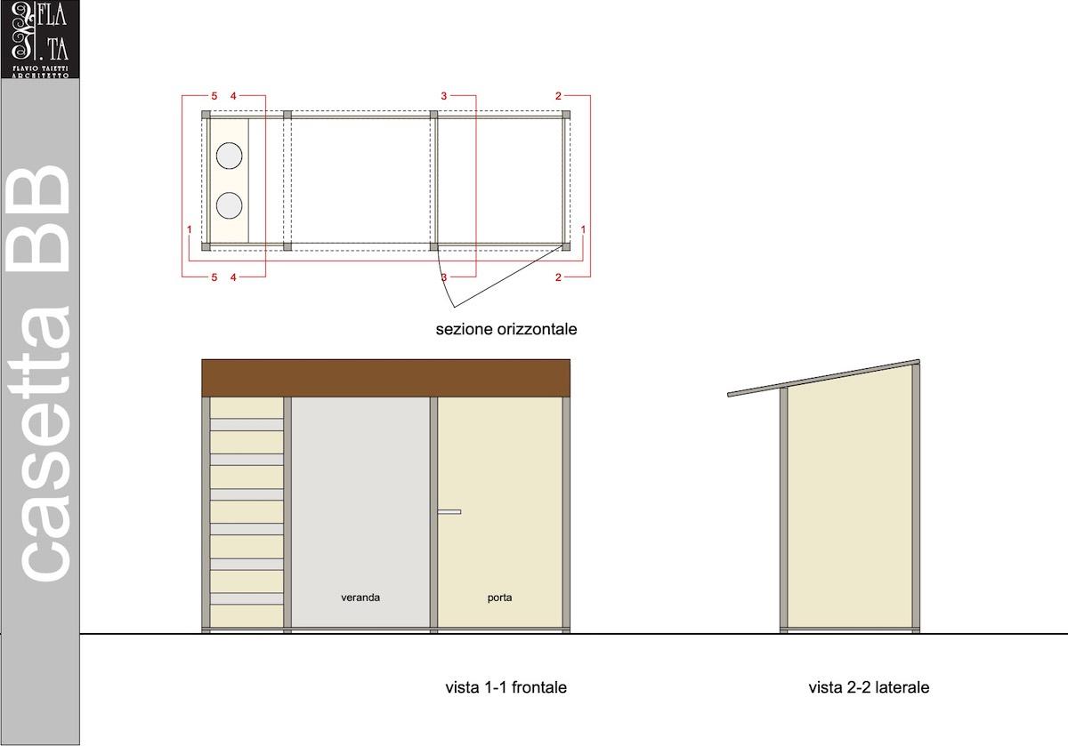 tavola di progetto casetta BB