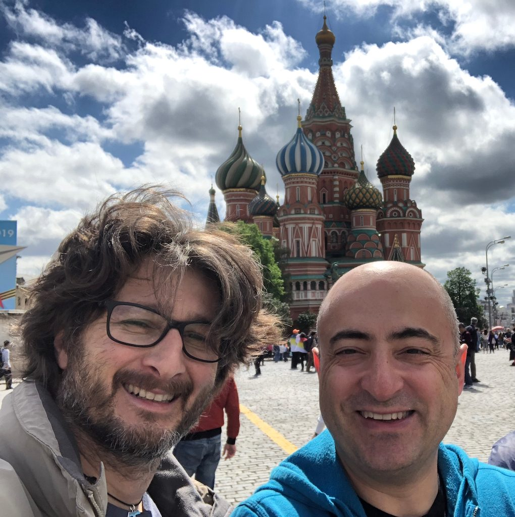 Architetto flavio taietti con collega in russia
